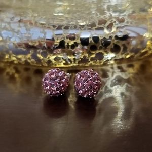 Jewelry - Pink Sparkle Ball Earrings